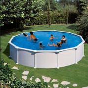 Kit piscine hors-sol Atlantis acier blanc ronde 550 x H132 cm