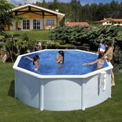 Kit piscine hors-sol Bora Bora acier blanc ronde Ø300 x H120 cm