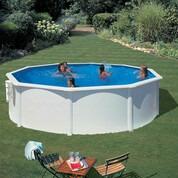 Kit piscine hors-sol Bora Bora acier blanc ronde Ø350 x H120 cm