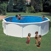 Kit piscine hors-sol Bora Bora acier blanc ronde Ø460 x H120 cm