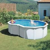 Kit piscine hors sol en huit avec renforts en u 500 x 340 x 120 cm