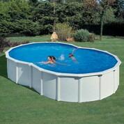 Kit piscine hors sol en huit avec renforts en u 710 x 475 x 120 cm