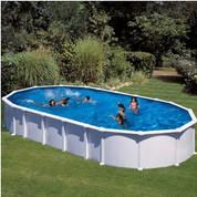 Kit piscine hors sol Haïti ovale avec renforts en U 1000 x 550 x 132 cm