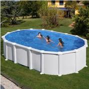 Kit piscine hors sol Haïti ovale avec renforts en U 610 x 375 x 132 cm