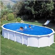 Kit piscine hors sol Haïti ovale avec renforts en U 730 x 375 x 132 cm