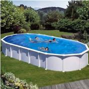 Kit piscine hors sol Haïti ovale avec renforts en U 800 x 470 x 132 cm