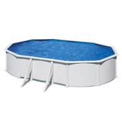 Kit piscine hors sol Wet acier blanc ovale 634 cm x 399 cm x H.122 cm