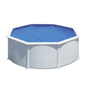 Kit piscine hors sol Wet acier blanc ronde Ø 480 cm x H.122 cm