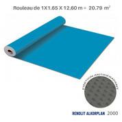 Liner antidérapant bleu adriatique Renolit alkorplan 2000 - 1.65 x 12.60 m soit 20.79 m²