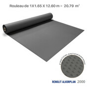 Liner antidérapant gris foncé Renolit alkorplan 2000 - 1.65 x 12.60 m soit 20.79 m²
