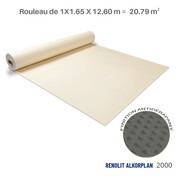 Liner antidérapant sable Renolit alkorplan 2000 - 1.65 x 12.60 m soit 20.79 m²