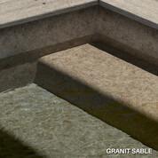 Liner armé Granit Sable Aquasense - 2 x 33 m² soit 66 m²