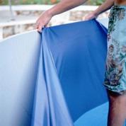 Liner bleu uni overlap piscine hors sol ronde Ø 300 x 65 cm 20/100