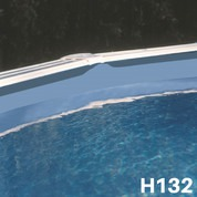 Liner bleu uni piscine hors sol Ø 350 x 132 cm 40/100