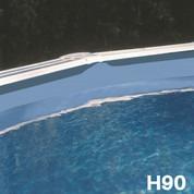 Liner bleu uni piscine hors sol ronde Ø 350 x 90 cm 30/100