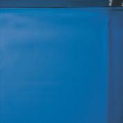 Liner bleu uni overlap 75/100 - Piscine hors sol Gré 6,10 x 3,75m x h 1,20m