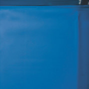 Liner bleu uni overlap 75/100 - Piscine hors sol Gré 7,30 x 3,75m x H. 1,20m