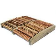 Masse-pieds bois pour sauna