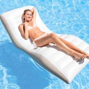 Matelas gonflable Lounge Blanc Intex