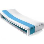 Matelas blanc/bleue pour transat Summertime