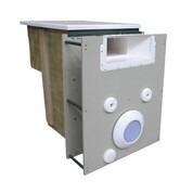 Mur filtrant miroir avec electrolyseur et regulateur ph