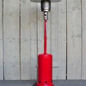 Parasol chauffant à gaz rouge de jardin