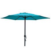 Parasol droit Ø 200 cm - Bleu Pétrole