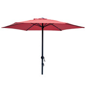 Parasol droit Ø 200 cm - Rouge