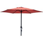 Parasol droit couleur terracotta 200 cm