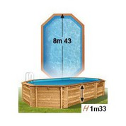 Piscine bois woodfirst allongée 843 x 489 x 133