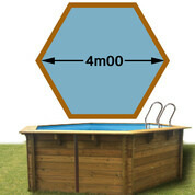 Piscine bois Woodfirst Original Hexagonale Ø 4.00 m x 1.20 m