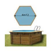 Piscine bois Woodfirst Original hexagonale Ø 412 x 119