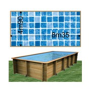Piscine bois Woodfirst Original Rectangulaire 800 x 400 x 146 cm liner persia bleu