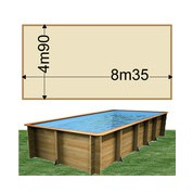 Piscine bois Woodfirst Original Rectangulaire 800 x 400 x 146 cm liner sable