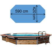 Piscine Cres 5,90 x 4,20 x 1,47 m