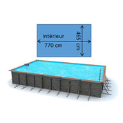 Piscine waterclip Leros 8,30 x 5,20 x 1,47 m