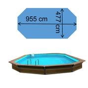 Piscine myconos 9,55 x 4,77 x 1,47 m