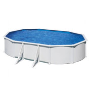 Kit piscine hors sol Wet acier blanc ovale 5.27m x 3.27m x H.1.22m