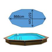 Piscine syros 8,66 x 5,37 x 1,47 m