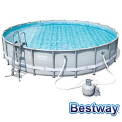 Piscine tubulaire Power Steel Frame Pools Ø4.88 x H.1.22m