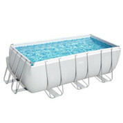 Piscine tubulaire rectangle Power Steel 412 x 201 x H.122 cm - Filtre à sable