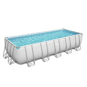 Piscine tubulaire rectangle Power Steel 640x274xH.132cm - Filtre à cartouche