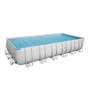 Piscine tubulaire rectangle Power Steel 732 x 366 x 132 cm - Filtre à cartouche