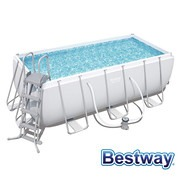 Piscine tubulaire rectangle Power Steel 4.12 x 2.01 x H.1.22m - Filtre à cartouche