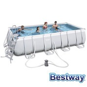 Piscine tubulaire rectangle Power Steel 4.88 x 2.44 x H.1.22m - Filtre à cartouche