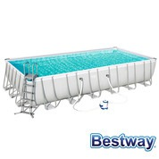 Piscine tubulaire rectangle Power Steel 7.32 x 3.66 x H.1.32m - Filtre à sable