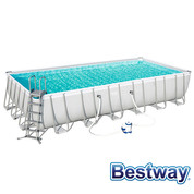 Piscine tubulaire rectangle Power Steel Frame Pools 7.32 x 3.66 x H.1.32m