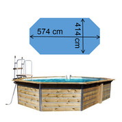 Piscine waterclip Lucon 574 x 414 x 111 cm