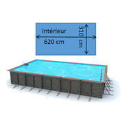 Piscine waterclip Tilos 6,80 x 3,70 x 1,47 m