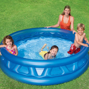 Piscine bleue gonflable Soft Side Intex